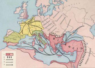 Mapa do Império Bizantino