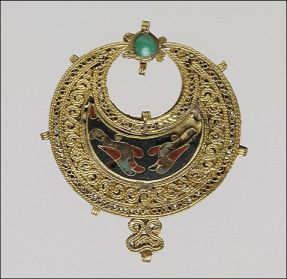 Joia bizantina, amostra do luxo  do Império Romano do Oriente