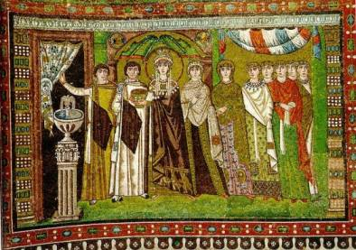 Mosaico representando a Imperatriz Teodora -  Basílica de São Vitalle, Ravenna