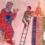 Constantino acompanhando o trabalho dos arquitetos