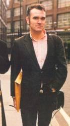 Morrissey a caminho do tribunal, em 1996