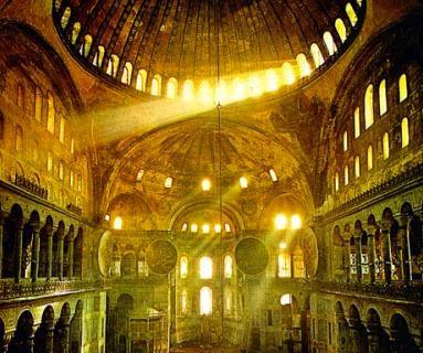 Interior da Igreja de Santa Sofia  -  Constantinopla