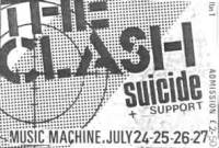 cartaz de show do Clash e Suicide