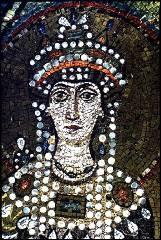 Detalhe de mosaico representando a Imperatriz Teodora