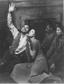 Cena da ópera americana Porgy and Bess de George Gershwin
