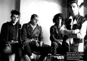 The Southern Death Cult - da esquerda para a direita: Ian, Buzz, Aky e Barry