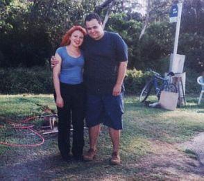 Eu e meu marido na Lagoa da Jansen